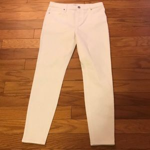 LOFT Modern High Rise Skinny Ankle Jeans WHITE